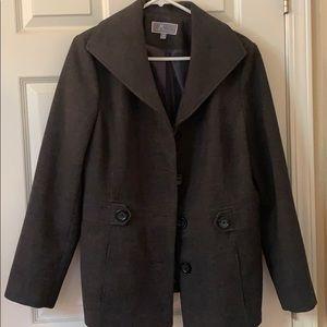 Beautiful charcoal JM Collection pea coat